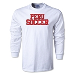 Peru Soccer Supporter LS T-Shirt (White)