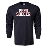 Peru Soccer Supporter LS T-Shirt (Black)