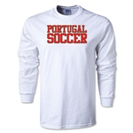 Portugal Soccer Supporter LS T-Shirt (White)