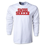 Swiss Soccer Supporter LS T-Shirt (White)