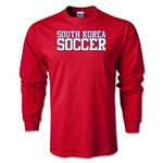 South Korea Soccer Supporter LS T-Shirt (Red)