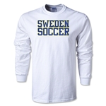 Sweden Soccer Supporter LS T-Shirt (White)