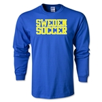 Sweden Soccer Supporter LS T-Shirt (Royal)