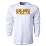 Ivory Coast Soccer Supporter LS T-Shirt (White)