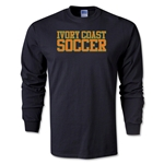 Ivory Coast Soccer Supporter LS T-Shirt (Black)