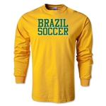 Brazil Soccer Supporter LS T-Shirt (Gold)