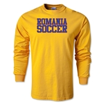 Romania Soccer Supporter LS T-Shirt (Gold)