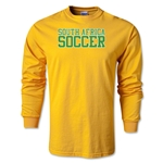 South Africa Soccer Supporter LS T-Shirt (Gold)