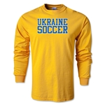 Ukraine Soccer Supporter LS T-Shirt (Gold)