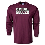 Portugal Soccer Supporter LS T-Shirt (Maroon)
