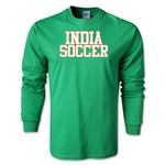India Soccer Supporter LS T-Shirt (Green)