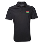 Burkina Faso Polo Shirt (Black)