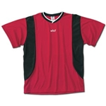 Vici Exel Soccer Jersey (Red/Blk)