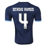 Real Madrid 15/16 SERGIO RAMOS Authentic Third Soccer Jersey