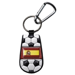 Spain Flag Soccer Key Chain
