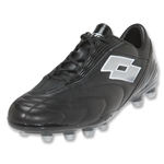 Lotto Fuerzapura L300 FG Soccer Shoes (Black/Silver N)