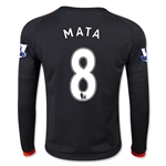 Manchester United 15/16 MATA LS Youth Third Soccer Jersey