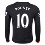 Manchester United 15/16 ROONEY LS Youth Third Soccer Jersey