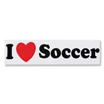I Heart Soccer Bumper Sticker