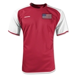 USA Torino Soccer Jersey (Red)