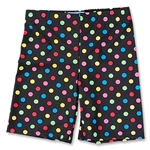 Yale Women's Compression Lacrosse Short 6 (Multi Polka Dots)