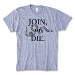 Objectivo Join or Die Grey T-Shirt (Gray)