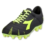 Diadora Evoluzione K Pro GX 14 Soccer Shoes (Black/Yellow Fluo)