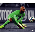 Tim Howard Signed USA Green Jersey Save Horizontal 16x20 Print