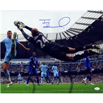 Tim Howard Signed Black Jersey Everton Save 16x20 Photo