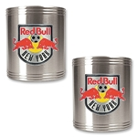 NY Red Bulls Two Piece Stainless Steel Can Holder Set