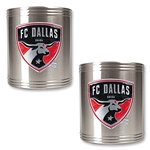 FC Dallas 2 pc. Stainless Steel Can Holder Set