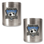 San Jose Earthquakes Two Piece Stainless Steel Can Holder Set