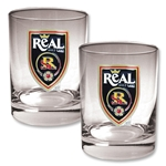 Real Salt Lake Two Piece Rocks Glass Set