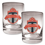 Toronto FC Two Piece Rocks Glass Set