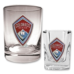 Colorado Rapids Rocks Glass and Square Shot Glass Set
