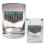 KC Wizards Rocks Glass and Square Shot Glass Set