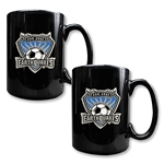 San Jose Earthquakes Two Piece Black Ceramic Mug Set
