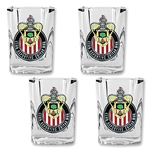 Chivas USA 4 pc Square Shot Glass Set