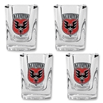 D.C. United 4 pc. Square Shot Glass Set