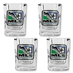 MLS Logo Four Piece Square Shot Glass Set