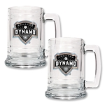 Houston Dynamo 2 pc. 15 oz. Glass Tankard Set