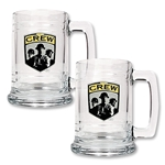Columbus Crew 2 pc. 15 oz. Glass Tankard Set