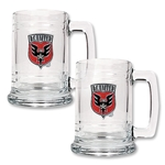 D.C. United 2 pc. 15 oz Glass Tankard Set