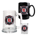 Chicago Fire 3 Piece Drinkware Set