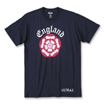 Objectivo Ultras England Football Rose T-Shirt (Navy)