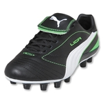PUMA Liga Finale 1 FG Women's Cleats (BLACK-WHITE-FLUO GREEN)