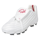 Pele Sports 1962 FG KIDS Soccer Shoes (White/Red)