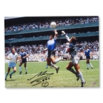 ICONS Signed Diego Maradona Hand of God Photo