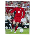Signed Ryan Giggs Wales Photo