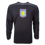 Aston Villa LS Training Jersey (Black)